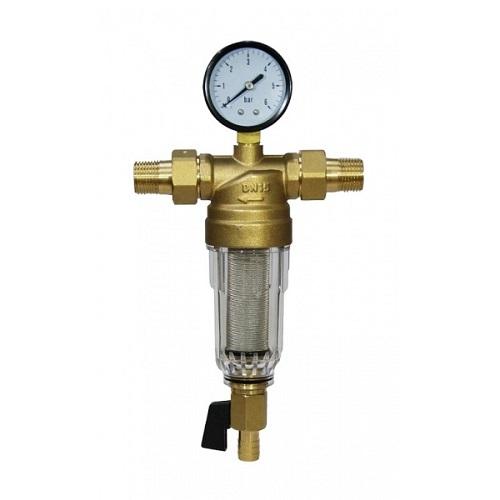Фильтр с манометром 1/2 Millennium для хол. воды